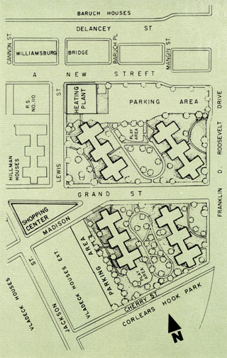 East River Site Plan, circa 1957