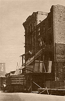 1920s demolition of site